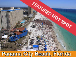 Aerial Photo of the top Domestic US Spring Break destination, Panama City Beach, Florida